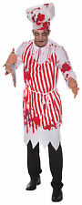 Mens Bloody Butcher with Apron Halloween Fancy Dress Costume Scary Outfit New