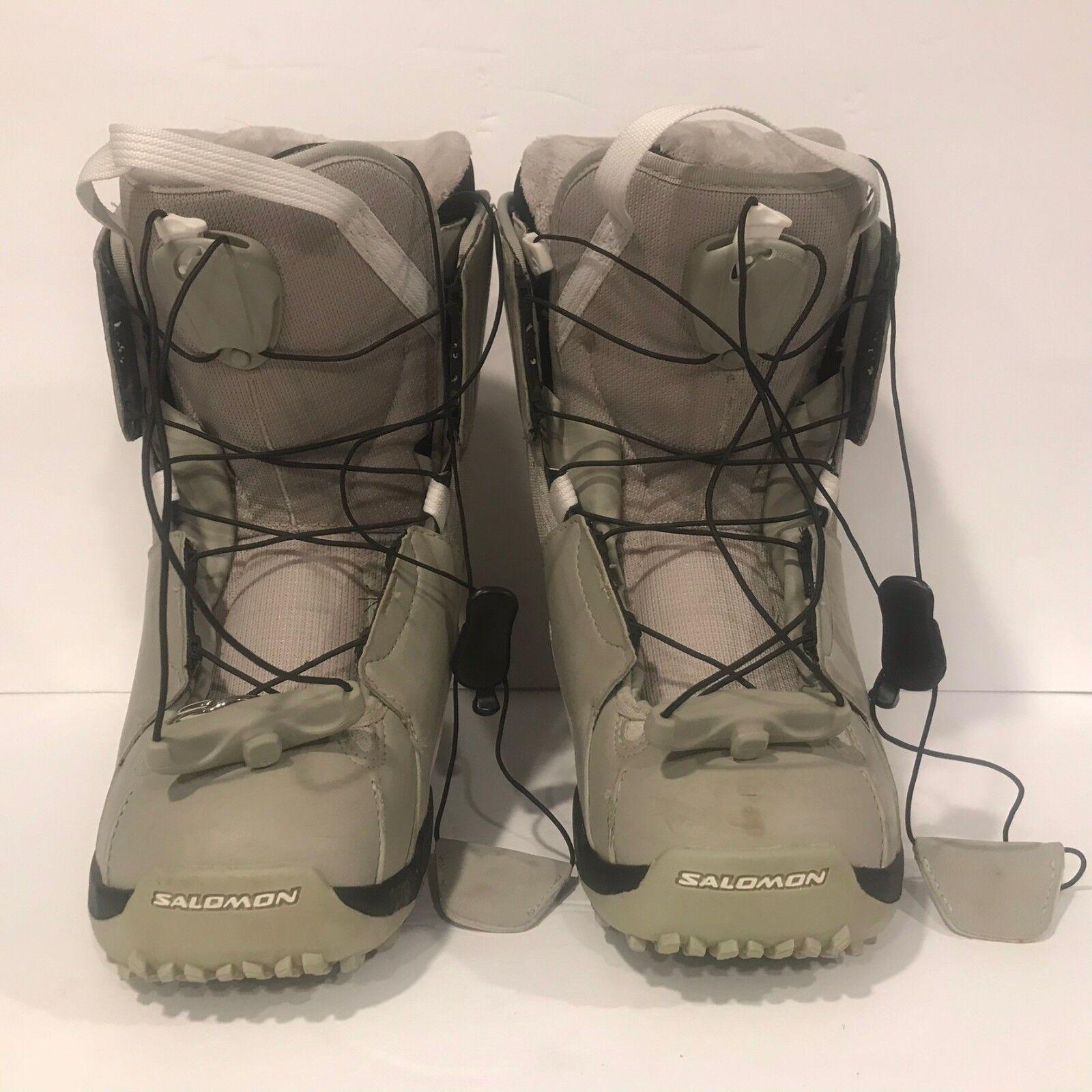 Salomon Halitan AutoFit Snowboard Boots Women's Light Green Size 6