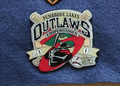 "Baseball-other Fan Apparel & Souvenirs 2007 Pembroke Lakes Outlaws Cooperstown Little League 2"" Pin Curing Cough And Facilitating Expectoration And Relieving Hoarseness"