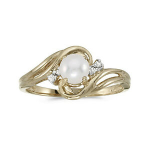 10k-Yellow-Gold-Cultured-Freshwater-Pearl-amp-Diamond-Ring-CM-RM1219-06