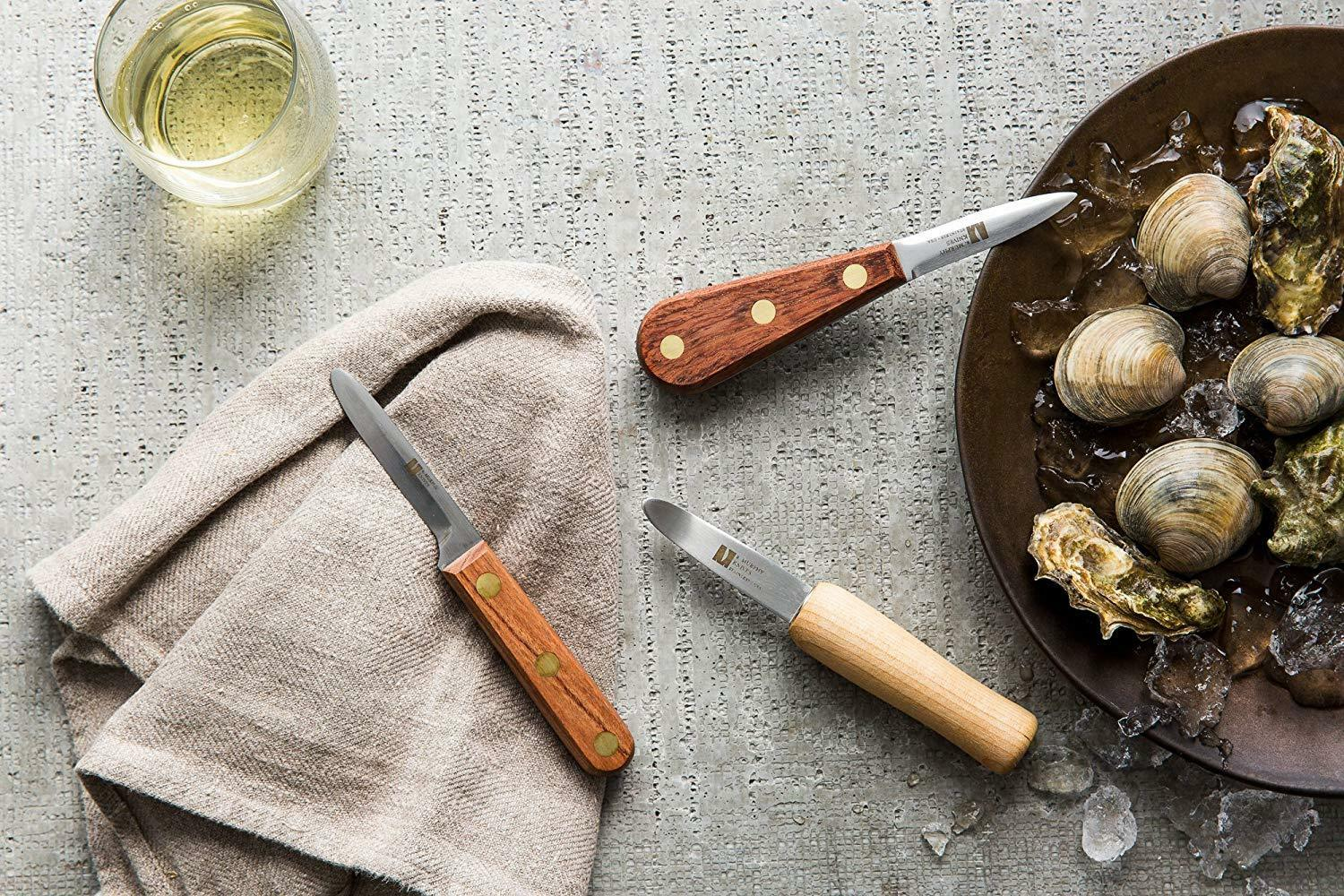 R Murphy 3 Piece Complete Oyster and Clam Knife Set Bundle Commercial-grade