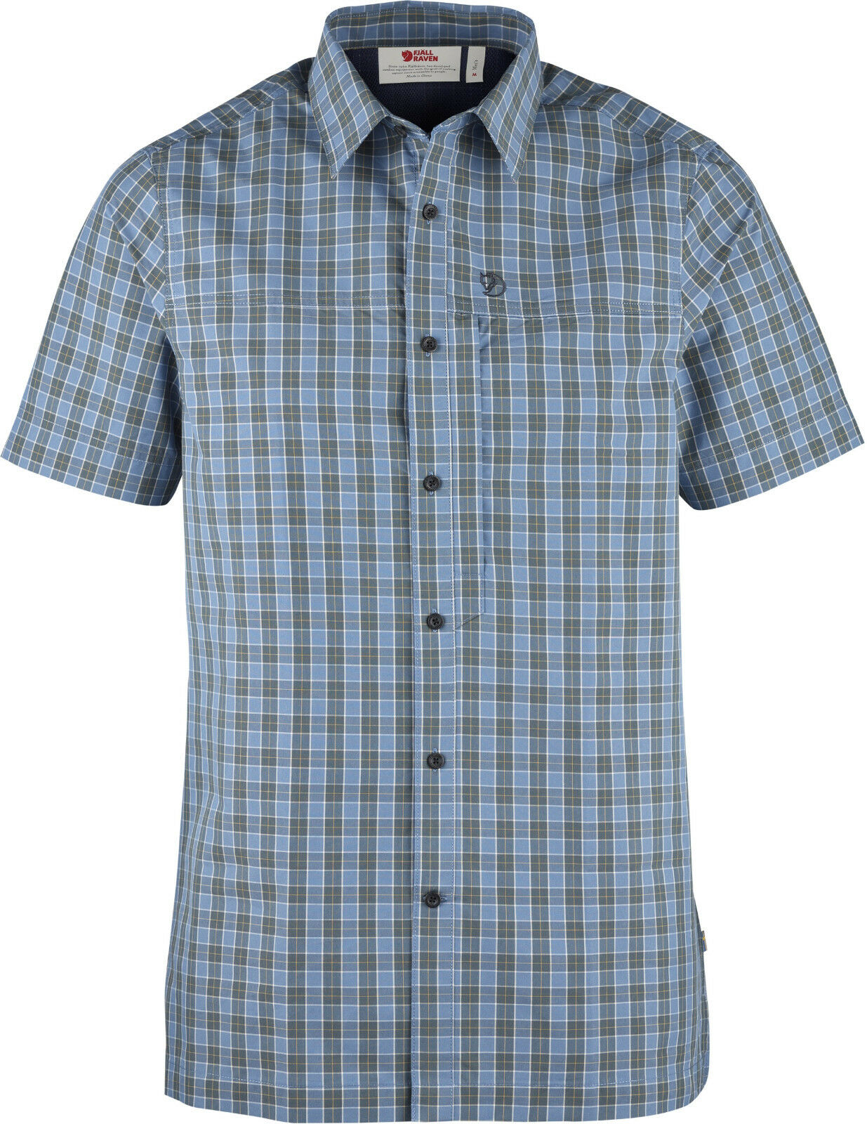 Fjällräven Svante camisa SS 81922 azul Ridge camisa para hombre manga corta Camisa outdoorhemd