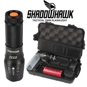 Shadowhawk Authentique X800 Tactique Détails Sur De Militaire 20000lm Lampe Led Torch Poch WHEDY9I2