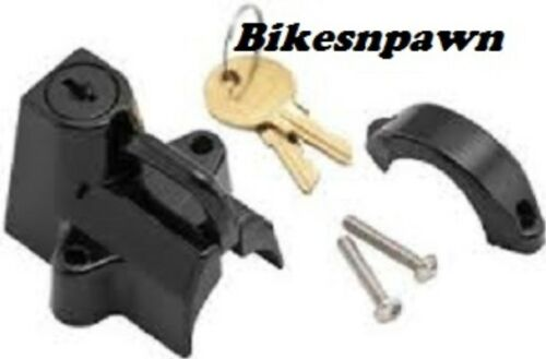 """Black  7//8/"""" to 1 1//4/"""" Motorcycle Helmet Lock New Bikers Choice 492979"""