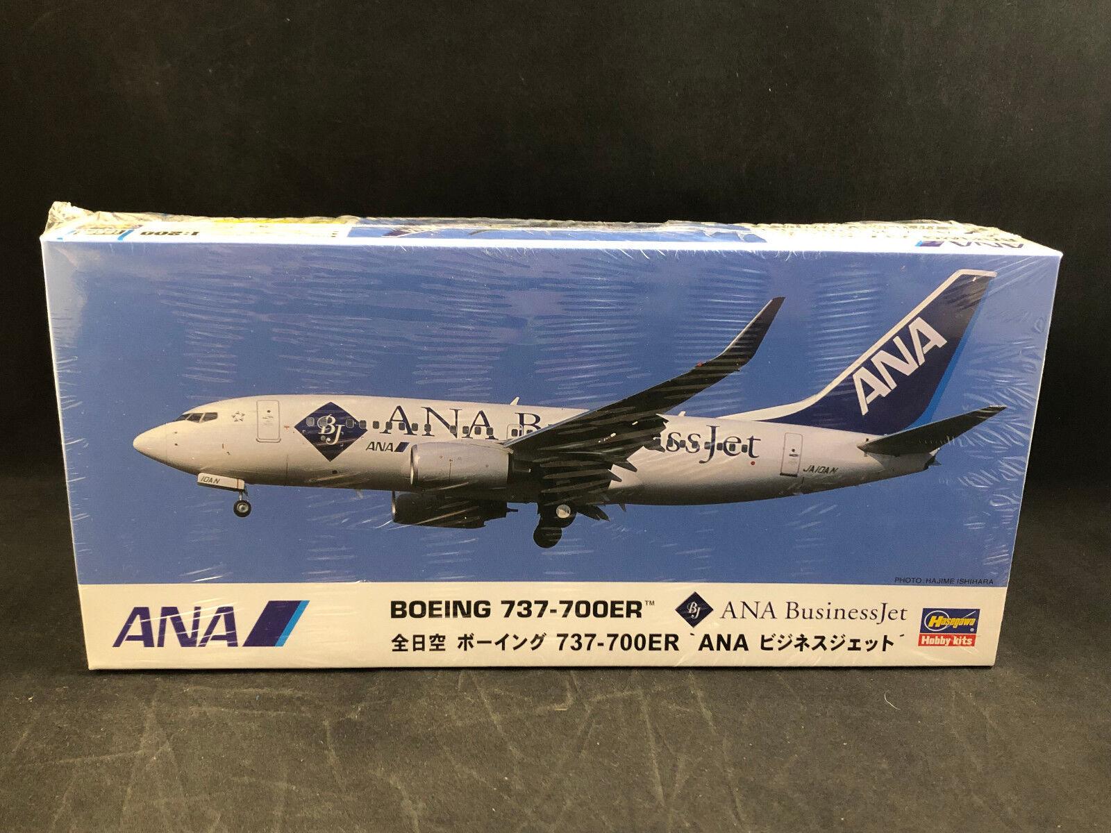Hasegawa ANA Boeing 737 -70ER bussiness Jet 1 200 skala Plastic modellllerler Kit 10666