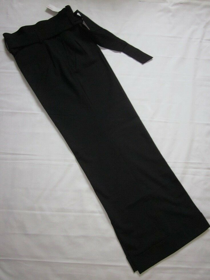 NWT Express DesignStudio Pleated High Waist Wide Cuffed Leg Pants w Tie Belt  6