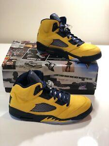 online store 17a6c 37979 Details about Nike Air Jordan 5 Retro Michigan 2019 Style # CQ9541-704 Size  10.5