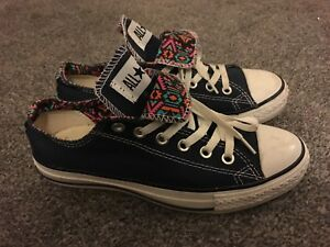 Genuine Converse Double Tongue Trainers