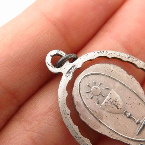 "Details about  /925 Sterling Silver Vintage /""St Pius X/"" Religious Charm Pendant"