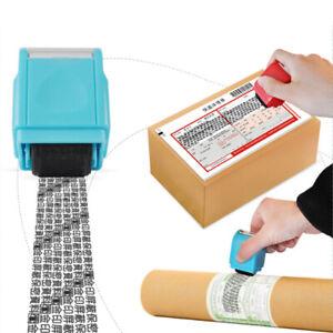 Timbro-Personalizzato-Protezione-ID-Dati-Riempimento-inchiostro-a-Rullo-Rosa-L-amp