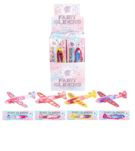 6,12,24 Fairy Flying Glider Planes Party Bag Filler //Childrens Toys //Game Prizes