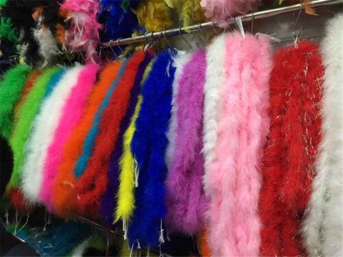 environ 1.83 m Fluff fourrure Parti à coudre Plume Costume Scène Boa Craft accessoires 2 Yd 180 cm