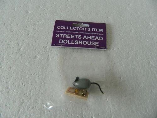 M1.24 Escala 1//12th Casa De Bonecas De Madeira Mouse E Mouse Trap