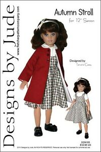 Autumn-Stroll-Doll-Clothes-Sewing-Pattern-12-034-Senson-Dolls-Designs-by-Jude