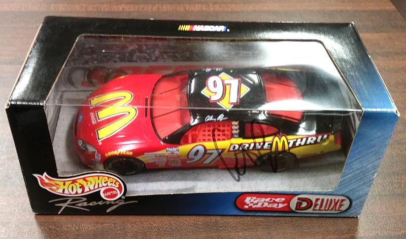 Hot Wheels Race Day Deluxe 1 24  97 Anthony Lazzaro McDonalds NIB NASCAR  27557