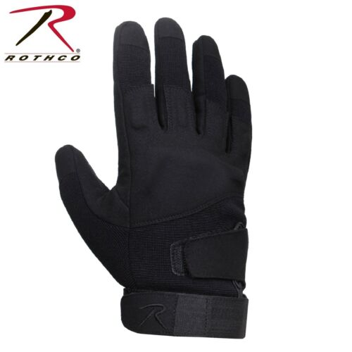 Black Tactical Duty Gloves Rothco Low Profile Padded Work Gloves
