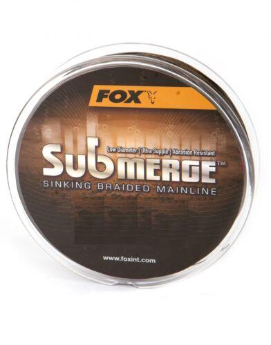 0,14€//1m Fox Submerge sinking Braided Mainline geflochtene Karpfenschnur 300m