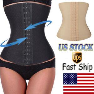 8f0829b40d320 Women Waist Trainer Corset Body Shaper Cincher Tummy Trimmer Stomach ...