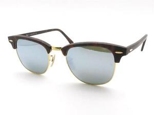 76822fd05d7 Ray Ban 3016 1145 30 Matte Sand Havana Silver Mirror Clubmaster New ...