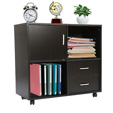 Rolling File Cabinet Storage Organizer Printer Stand With 2 Drawers Amp Wheels