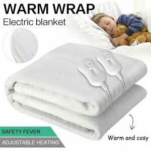 Washable-Heated-Electric-Blanket-Fully-Fitted-Polyester-5-Size