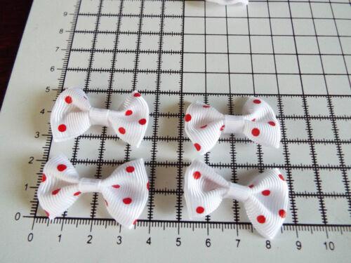 passementerie coton // en organza Mariage-de 4 cm 4 X Large applique Blanc Polka