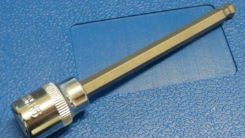 """HEX 7 mm Boule Fin Clé Allen Bit 3//8/"""" Socket 110 mm Chrome Vanadium Manche Ample"""