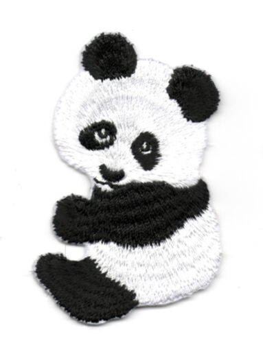 Applikation Patch Bügelbild Panda Bär 4,8 x 7,5cm