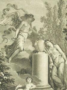 à Condition De La Mort D'abel De Gessner Salomon 1793 Gravure Par Thomas D'ap L Barbier