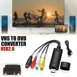 USB-2-0-Audio-TV-video-VHS-vers-PC-DVD-VCR-Converter-Carte-Capture-Adaptateur-Nouveau-Z6U4