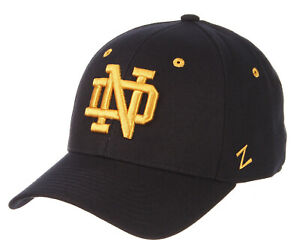 NOTRE-DAME-FIGHTING-IRISH-NAVY-FITTED-SIZED-ZEPHYR-DH-CAP-HAT-NWT-CHOOSE-SIZE