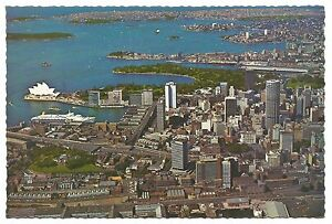 NSW-c1970s-POSTCARD-AERIAL-VIEW-OF-CITY-TO-EAST-SYDNEY-NEW-SOUTH-WALES