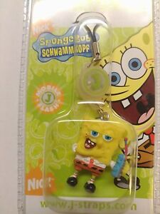 BRAND NEW SPONGEBOB SQUAREPANTS FLASHING MOBILE PHONE CHARM KEYRING
