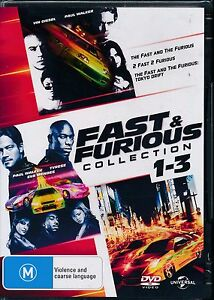 Fast-and-Furious-Collection-1-3-DVD-NEW-3-disc-Region-4-Paul-Walker-Vin-Diesel