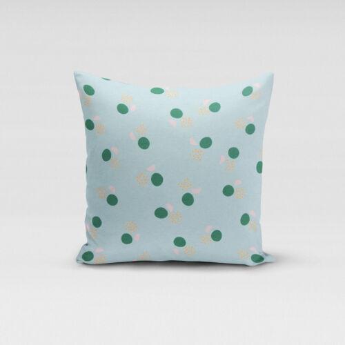 Pillow Case Circles Semi-Circles Blue Green Pink Orange Various Sizes Beautiful Life