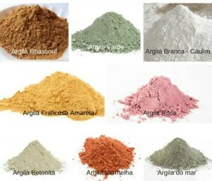 Natural Powder French Green White Red Rhassoul Pink Clay Face Skin Mask