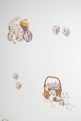 Bunnies Blocks Toys Wallpaper Roll W1105 Children/'s Nursery Patchwork Cats