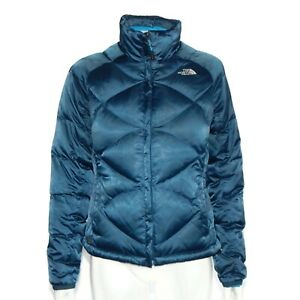 THE-NORTH-FACE-550-DOWN-Women-039-s-Jacket-Classic-Blue-Winter-Puffer-size-Small