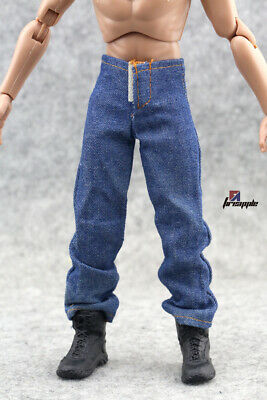 1//6 Male Classic Denim Jeans Pants for 12/'/' Action Figure Body