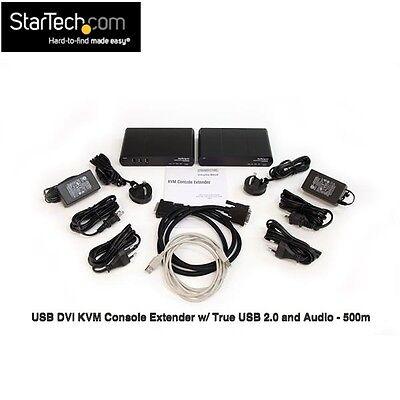 USB DVI KVM Console Extender w/ True USB 2.0 and Audio 500m (ext over CAT 5/6)