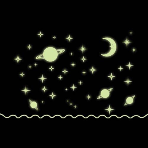 Fluorescent étoiles brillent dans le noir Home Decor lumineux planètes Kids Baby