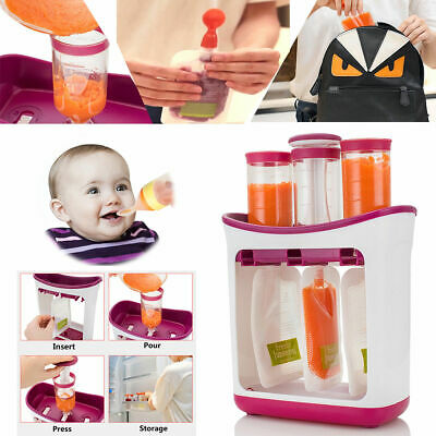 10PCS Fresh Squeezed Pouches baby Weaning Food Puree Homemade Juice Storage Bags