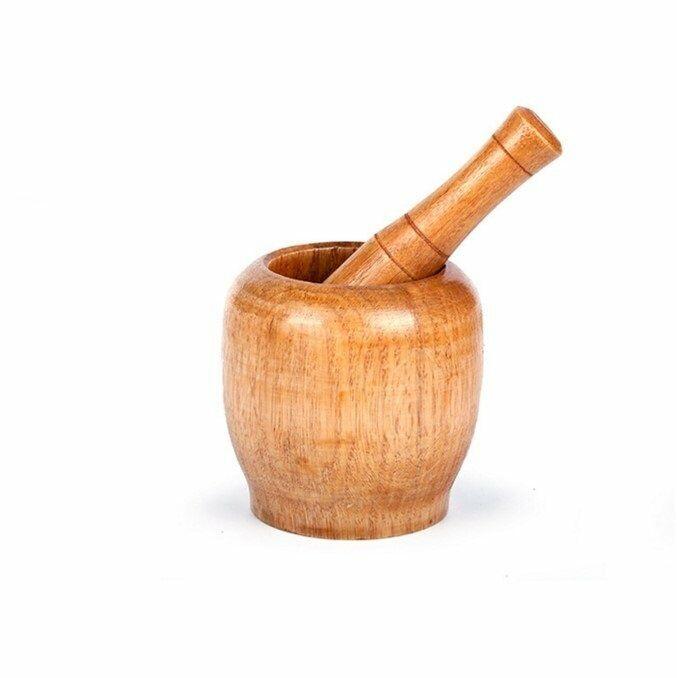 Mortar Pestle Set Garlic Herb Spice Mixing Grinding Crusher Bowl Kitchen Tools