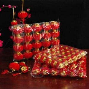 Red Small Lantern Decor Chinese New Year Spring Festival ...