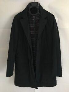 uk availability a16de 41f01 Dettagli su giaccone Henry Cotton's tg.48(M) blu cappotto imbottito  impermeabile uomo