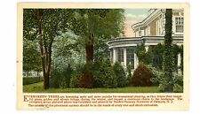 Palmyra NJ-EVERGREEN TREES AT LARGE HOME-NURSERY ADVERTISING-Postcard AD