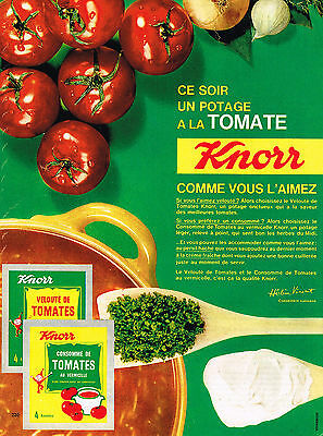 Breweriana, Beer Publicite Advertising 1965 Knorr Potage Tomate Volume Large Collectibles