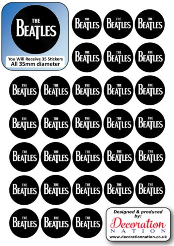 The Beatles STICKERS Decoration Fun Kids Adults Music English Rock Band Pop