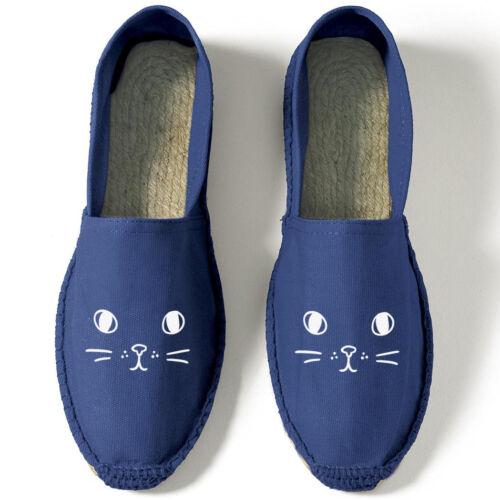 Cara De Gato Alpargatas Zapato Sin Cordones Sandalia Eslogan Divertido Moda