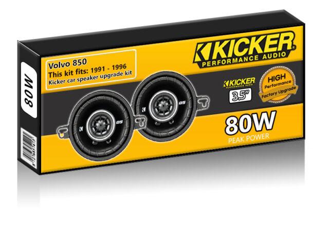 "Volvo 850 Front Dash Speakers Kicker 3.5"" 87mm car speaker kit 80W"